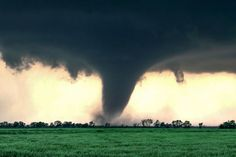 """Top 10 Weather Photographs: 4/16/2015 """"Classic Oklahoma Tornado"""" – Cherokee Oklahoma Tornado, 4/14/12, two years ago. This shot was captured just before the second tornado touched down."""