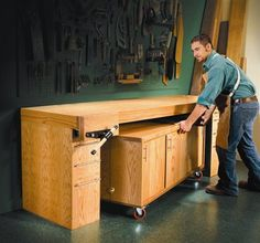 Torsion-Box Workbench and Expandable Assembly Table - The Woodworker's Shop - American Woodworker