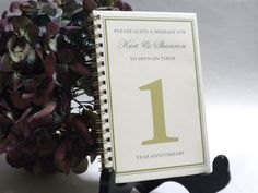 Table Number Mini Guest Books 5pk by AllysonDuPont on Etsy, $38.25