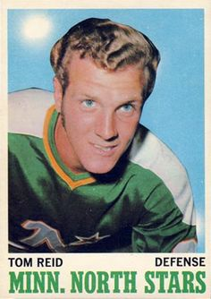 Tom Reid Minnesota North Stars, Minnesota Wild, Hockey Games, Hockey Players, History Of Hockey, Wild North, Player Card, Vancouver Canucks, Nhl