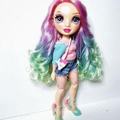Dc Superhero Girls Dolls, Rainbow Fashion, Lol Dolls, Rainbow Colors, Lip Balm, Fashion Dolls, Art Reference, Cheer, Witch