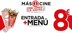 Yelmo Cines Meridiano y Coca Cola te ofrecen una promoción con la que podrás disfrutar de cotufas y refresco más tu entrada por tan solo 8 euros. ¡Pulsa en esta imagen para solicitar tu cupón!