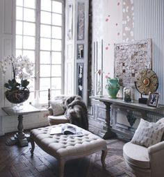 Design, Furniture and Decorating Ideas… Home Living Room, Living Spaces, Country Interior, Family Room Design, Interiores Design, Interior Inspiration, Home Furniture, Interior Decorating, Decorating Ideas