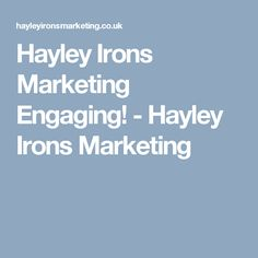 Hayley Irons Marketing Engaging! - Hayley Irons Marketing Who People, Dinner With Friends, Irons, How Are You Feeling, Social Media, Make It Yourself, Marketing, Feelings, Blog