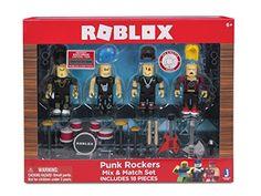 44b50e6d397986 ROBLOX Punk Rockers Mix   Match Set (4 Pack) Card Games