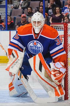 """Viktor Fasth  of the Edmonton Oilers.  He is 6' 0"""", 186 lbs and was born Aug 8, 1982 in Kalix, Sweden Age 32  He'll be a free agent after the season, coming off a disappointing and injury-marred campaign."""