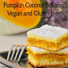 Pumpkin Coconut Squares: the perfect alternative to traditional pumpkin pie at your holiday gathering (gf, vegan).