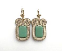 Soutache earrings by mintESSENCE, jońska
