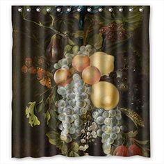 GIOOD Width X Height / 66 X 72 Inches / W H 168 By 180 Cm Famous Classic Art Painting Flowers Blossoms Christmas Shower Curtains Polyester Fabric Ornament And Gift To Family Artwork Kids Lover Tee *** Want to know more, click on the image.