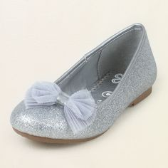 girl - glitter bow ballet flat | Children's Clothing | Kids Clothes | The Children's Place $13.19