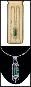 Edwardian tourmaline and diamond necklace by Drecier and Co., circa 1915