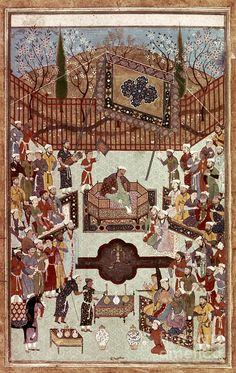 Persian Miniature, 1567 Photograph