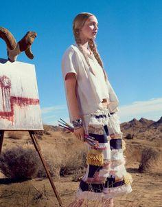 Sasha Pivovarova by Mikael Jansson for US Vogue February 2014