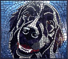 Mosaic dog. Anick_olmsted_2 love the contrasts in colour!