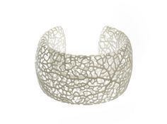 Rhizome Cuff (sz M) 3d printed Jewelry Bracelets in white strong and flexible polished