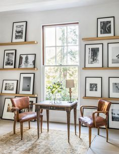 Simplistic office space design with gallery wall | Giannetti Atherton