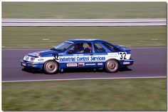 Andy Rouse / David Sears Ford Sierra XR4Ti Touring Car. 1986 RAC Tourist Trophy ETCC Silverstone.