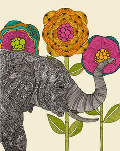 ✯ Elephant .. Illustration by Valentina Roma✯