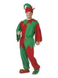Mens Adult Complete Elf Costume Standard For Christmas Mens Elf Costume Adult Elf Costume