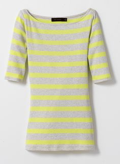 Chartreuse & Heather Grey Top #ChatrueseTop #TheLimited