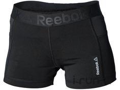 Pour toutes vos sorties de running les jours de grande chaleur, optez pour le short Reebok Workout Fit Knit noir pour femme (Collection Printemps/Eté).