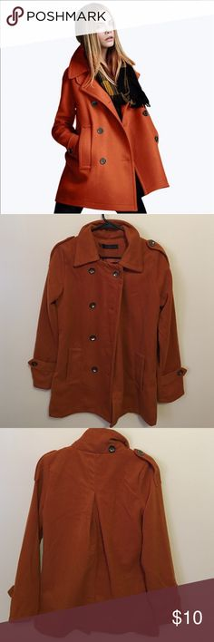 Dark orange jacket Perfect for fall. Has a tear inside but nothing that is shown nor does it affect style. Price reflects the tear. unbranded Jackets & Coats