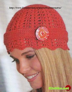 "Crochet cap. Photo instruction pages available, however, ""translator"" won't work on this one. Pretty easy to see how it's worked."