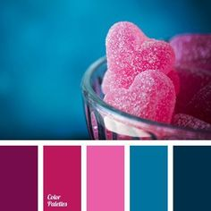 Color Palette No. 1910 - Pink and blue hues - color inspiration Pink Color Schemes, Colour Pallette, Color Combinations, Teal Color Palettes, Color Schemes Design, Pink Palette, Color Balance, Balance Design, Colour Board