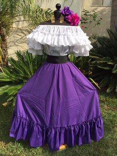 BEAUTIFUL MEXICAN FIESTA, DEAD OF THE DEAD, CINCO DE MAYO OR WEDDING DRESS ! The style makes it suitable to fit several size, such as S/M/L. Dress is shown with a sash on the waist. This dress is a unique one of a kind style. | eBay!