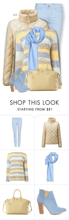 """""""Pastels"""" by daiscat ❤ liked on Polyvore featuring Paige Denim, Uniqlo, Barbour, Fendi, Dooney & Bourke, Cleo B and Melissa Lo"""