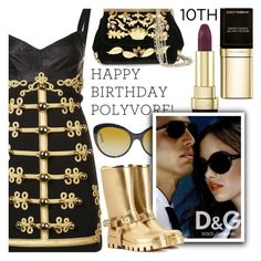 """""""Celebrate Our 10th Polyversary!"""" by shoaleh-nia ❤ liked on Polyvore featuring Dolce&Gabbana and D&G"""