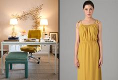 Color Inspiration: Mustard in Fashion and Interiors