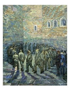 Vincent van Gogh The Prison Courtyard painting is shipped worldwide,including stretched canvas and framed art.This Vincent van Gogh The Prison Courtyard painting is available at custom size. Art Van, Van Gogh Art, Vincent Van Gogh Werke, Vincent Willem Van Gogh, Paul Gauguin, Dutch Artists, Famous Artists, Van Gogh Pinturas, Kunsthistorisches Museum