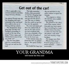 I think I just peed my pants laughing.  Your grandma will never be this cool…