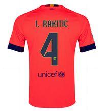 14-15 Football Shirt Barcelona Cheap I.Rakitic #4 Away Pink Jersey [A161]