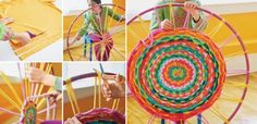 Hula Hoop Tshirt Rug Instructions
