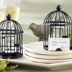 #Lovebird Cage Candle Holder Bonbonniere