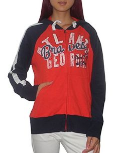 e879a703701 Womens Atlanta Braves Athletic Zip-Up Hoodie (Vintage Look) - for him  discount