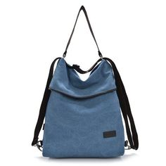 Brand HAOLISHI Women Casual Canvas Shoulder Bag Leisure Crossbody Bag Outdoor Backpack