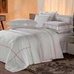 f7406fea4d Conjunto de Capa Protetora para Edredom e Fronha Solteiro Duvet Branco e  Vermelho