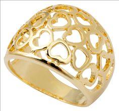 Anel Coração Dourado $79.90