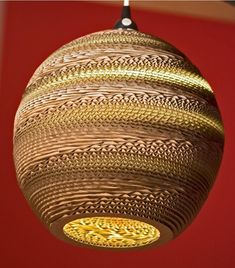 spherical cardboard lamp