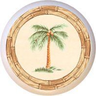 Ceramic Knob - Coconut Palm Tree - Trees