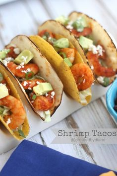 shrimp tacos from @createdbydiane