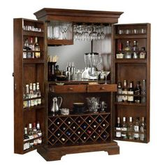 Howard Miller Sonoma Hide-A-Bar Wine and Home Bar Cabinet - Wine Furniture at Hayneedle
