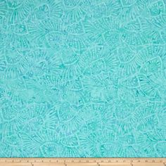 Batavian Batiks Flora Shells Aqua from @fabricdotcom  Designed for South Sea Imports, this Indonesian batik fabric is perfect for quilting, apparel and home decor accents. Colors include shades of aqua blue.
