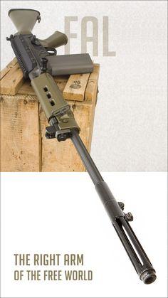 FAL 7.62NATO Battle Rifle - http://www.rgrips.com/tanfoglio-limited/492-tanfoglio-armi.html