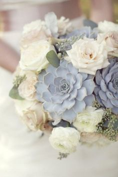 A slate and dusty blue #wedding #bouquet... check out more on our Pinterest http://bit.ly/navygray