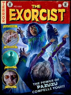 Exorcist Movie, The Exorcist, Culture Pop, Geek Culture, Scooby Doo Pictures, Horror Themes, Movie Covers, Movie Titles, Horror Artwork