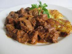Marhapörkölt zalai dödöllével (40. hét, szombat) Beef, Meat, Steak